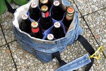 beer bag tutorial / Návody na ušití tašky na piva