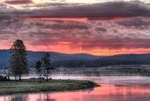 sunrise or sets