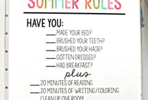 summer rules and activities