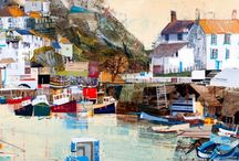 Tom Butler / Tom Butler works in mixed media and collage to make beautiful landscape paintings.