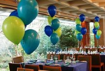 Balloon Centerpieces / Fun, Festive yet Affordable - balloon centerpieces can be the way to decorate for any event such as showers, birthday parties, anniversaries, corporate events, picnics and more