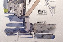 line and wash