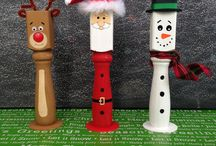 wooden xmas decorations turned
