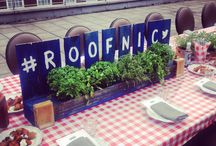 Our Roofnics! / This summer we've taking a liking to throwing parties on the roof we have here overlooking Oxford Street. We like to call them 'Roofnics' - think picnics, on the roof!