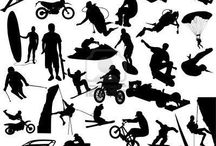 Sporty z odrobiną adrenaliny / Ta tablica jest o sportach ekstremalnych.