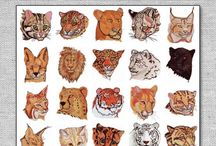 Animals Embroidery Designs / Embroidery designs of animals. Cats, dogs, birds, tigers, lions, elephants, big cats, horses, etc. Digital files of embroidery patters for your embroidery machine.  dogs, cats, Very beautifully crafted.