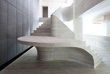 Ocean travertine staircase