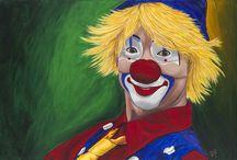 Pinturas Clown de Patty Sue - Greatclownportraits.com / Pinturas Clown