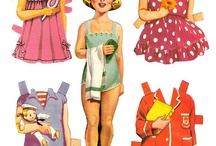 paper dolls / by Pink Hippo Quilts