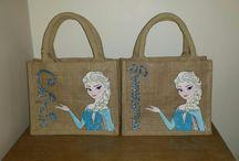 personalised disney jute/canvas bags