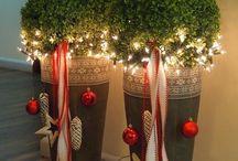 Weihnachtsdeko draußen