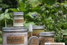Leafyhead Products / Hand-made herbal-based lotions, salves, lip balms, etc ... all the stuff we sell!