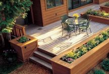 Planter box deck