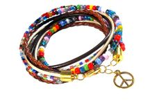 hippie style / Bright colors, beads, braids and peace symbol.  This is hippie style.  Feel the atmosphere of Woodstock!