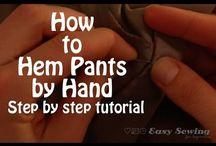 hemming pants