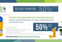 DDS Specials / Special offers from DDS Calorimeters on any of our CAL2K and CAL3K Oxygen Bomb Calorimeter Systems.