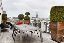 Top garden rooms in Paris / It's summertime in Paris! Will you love our garden rooms?  Open the windows, settle in on your balcony. At 11:00 pm, midnight, and 1:00 am, the Eiffel Tower lights up with thousands of lights. Even blasé Parisians are enchanted by it!
