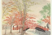 Tokuriki Tomikichiro / (1902 - 1999) Tomikichiro Tokuriki was born into a family of Kyoto artists that can be traced back as far as the Keicho era (1596-1615).