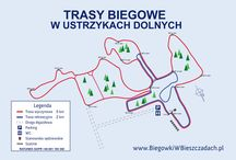 Mapa tras / Cross-cuntry ski trails map