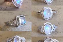 Moonstone engagement rings