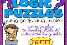 Logic and Brain Teasers / Learn AND have fun. I loved these as a kid and still do!