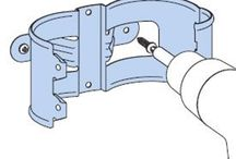 Lindab Steel Downpipe Brackets / Step by step illustration on how to fix the brackets.