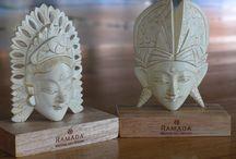 Balinese Statue / Balinese statue at Ramada Bintang Bali Resort.