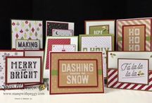 "Stampin' Up Merry Little Christmas Memories & More Card Pack / These are cards and projects I've created using ""Merry Little Christmas Memories & More"" by Stampin' Up!. Full supply lists can be found on my blog www.stampwithpeggy.com come check it out."