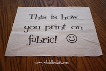 Sewing and fabrics / by Julie Kyle Simonson