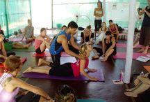 #yoga-adjustments / yoga adjustments under the guidance of Swami Veet Jayo.
