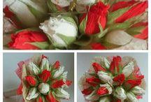 Saldainių gėlės/ Chocolate flowers