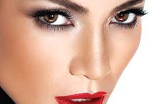 Evening makeup look RED LIPS