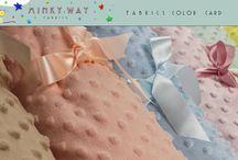 Minky Way Color Card / Minky Dots Fabrics