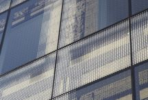 Printed glass facade