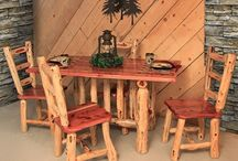 Rustic Home Decor / Log Living Room furniture collections. From nature's own works of art, you will find sofas, coffee tables, rocking chairs, and entertainment centers crafted from the finest soft and hardwoods