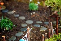 Fairy and small garden