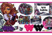 Monster High Parti Malzemeleri