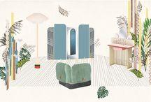 """Inspiración: Cristina Celestino para Fendi / Te mostramos el gran trabajo de la arquitecta Cristina Celestino en una colaboración con Fendi, cuya paleta de color nos inspira a vivir en un """"Happy Room"""" en casa."""
