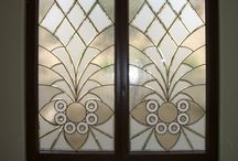 Leaded Glass Windows / Custom Designed, Leaded Glass windows by Sans Soucie Art Glass of Palm Desert, California.  Glass is packed in-house and ships worldwide at reasonable price!