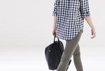 krata / checkered shirt