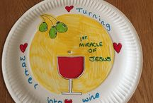 Sunday school crafts / The miracles of Jesus. Turning water into wine.