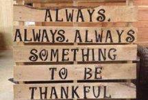 Gratitude / On the importance of gratitude...