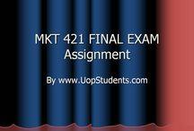MKT 421 FINAL EXAM Assignment