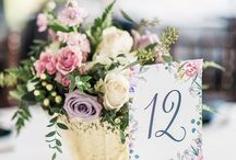 Wedding table numbers / Wedding day paper goods, wedding table numbers