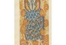 Owls / Owl woodblock prints