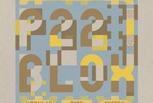 P22 Blox - Spaceage Letterpress Type / Modular letterpress blocks - A collaborative project from P22 and Starshaped Press