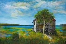Constance Vlahoulis's Art / In 2003, after a 17-year stellar Real Estate career in Michigan; Constance Vlahoulis and her husband Bill, relocated to the Asheville area to start her second career as a unique painter/artist.