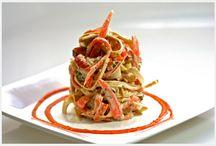 Raw italian/meditteranian / spiralized noodles, lasagna, ravioli, falafel, wraps / by Julie Davidson