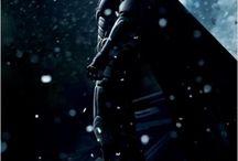 Superheroes of the Comics Universe / I am a comic book geek. I read Batman on my Kindle.
