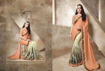 Beautiful Georgette and Silk Made Printed Traditional Sarees / Beautiful Georgette and Silk Made Printed Traditional Sarees